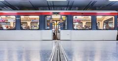 Sliding Doors (katrin glaesmann) Tags: hamburg jungfernstieg metro station ubahnhof ubahn tube train moving longexposure people hamburgmitthorsten u4 dog