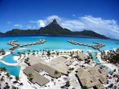 The Intercontinental Resort & Thalasso spa Bora Bora (Pierre Lesage) Tags: blue topf25 french polynesia hotel kap reef motu bora intercontinental francelandscapes httpwwwflickrcomgroups365685n24