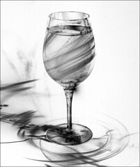 Energy drink (SEngstrom) Tags: bw food water glass bravo wine wineglass energydrink orrefors rb67 outstandingshots sekor127mm artlibre creativeshotinvited