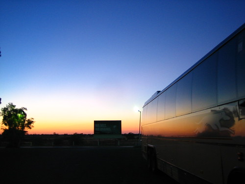 Sunset Over a Greyhound Bus