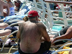 The hairiest back I have ever seen. (RussellChowning) Tags: cruise ship enchantmentoftheseas royalcarribbean