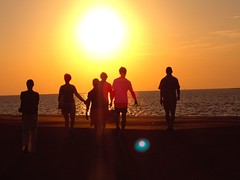 Friends going to watch the sunset - by John & Mel Kots