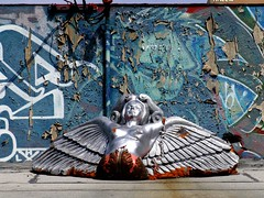 Sliver Fallen Angel (See El Photo) Tags: 15fav angel wings alley sweet great 10f melrose fallenangel fallen sliver grounded 1f faved 111v1f topphotoblog sliverangel seeelphoto chrislaskaris