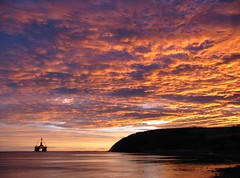 January Sunrise 2004 (ccgd) Tags: sunrise wow scotland highlands cromarty oilrig sutor canona40