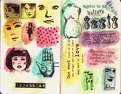 Moleskine: Old Stamps (Isabel Nunez) Tags: test moleskine ink watercolor stamps journal stamp sample dye rubberstamp rubberstamps jacquard