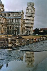 [Free Image] Architecture/Building, Tower, Leaning Tower of Pisa, World Heritage, Italy, 201006161900