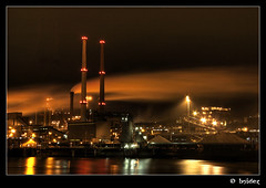 IJmuiden at night (Jeroen van Vliet [bsidez]) Tags: nightphotography netherlands architecture night dark multiple industrie hdr exposures ijmuiden hollland bsidez