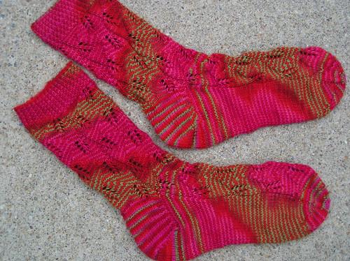 Embossed Leaves Socks - 1st pair