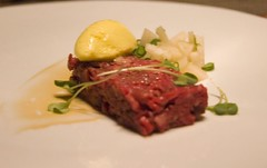 First Course: Hangar Steak Tartare