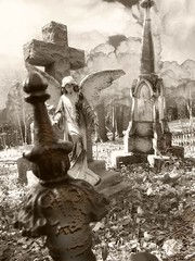 durwood obelisk (zenosaurus) Tags: cemeteries art abandoned cemetery grave angel dead death rust cross decay surrealism cemetary tomb surreal carving graves surrealistic archangel bizarre necropolis relic