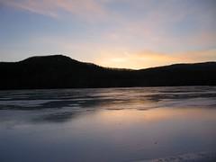 Sunset (Robbie1) Tags: sunset ice spring bearmountain tremblant