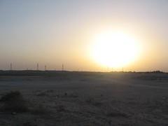 Leaving at Sundown (Mink) Tags: sea al desert resort chalet kuwait chalets   wataniyah
