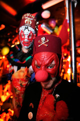 creepy clowns (Paul Gosney) Tags: red hat nose mask australia 2006 mexican clowns kookie acmp 2006paulgosney 34boxfordst