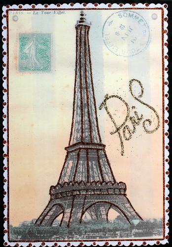 Eiffel Tower postcard Vintage por DesignCracker.