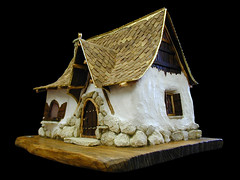 model house (Gary Zuker) Tags: house building home architecture miniature model straw plaster clay cob hobbit frontdoor miniture modelhouse strawhouse strawclay