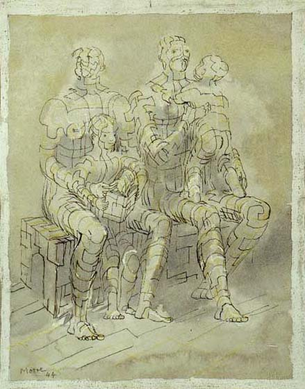 """Family Group 1944"" by Henry Moore, private collection, USA"
