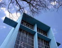 toward heaven (Remiss63) Tags: blue copyright color church architecture modern concrete photographer stlouis architect missouri utata saintlouis armstrong presbyterian loughborough allrightsreserved 1959 midcenturymodern raimist harrisarmstrong andrewraimist standrewpresbyterianchurch remiss63