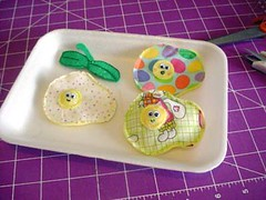 - Fried Eggies - (brooches) (Warm 'n Fuzzy) Tags: food cute colorful brooch craft pins softie kawaii eggs warmnfuzzy warmnfuzzynet