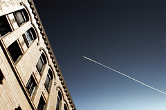 Best of Both Worlds. (G0Da) Tags: sky building 20d photoshop canon flickr jet views faves activity godaspicks