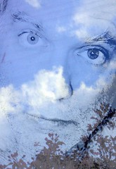 Collage Me (O Caritas) Tags: me self selfportrait face ocaritas collage sky clouds tree branches flowers picasa