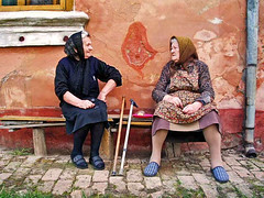Women, Banat, Serbia (Aleksandra Radonic) Tags: old portrait colors rural women village serbia documentary glad attitude balkans srbija dacia kozjak ferdin