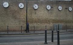 Clocks (LoopZilla) Tags: london time canarywharf guesswherelondon clocks eastlondon gimped