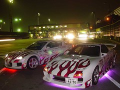 Early night run on the Wangan with R Magic. (Jrrizzle) Tags: cars japan tokyo sony magic r yokohama mazda rx7 rx8 f707 wangan