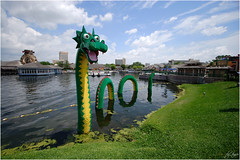 Lego Nessy (Bravo_Kilo) Tags: toys dragons legos monsters lochnessmonster downtowndisney canonefs1022mm canon1022