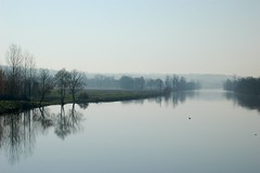 Early morning mist over the Vienne (Jaxpix50) Tags: morning blue mist france reflection tag3 taggedout river tag2 tag1 view calm vienne admin availles jaxpix50 lptpt jackiehsouth