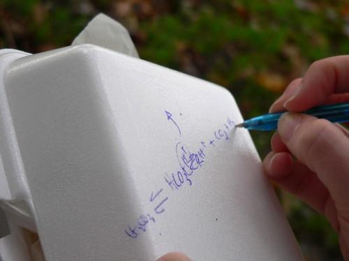 Writing on a box