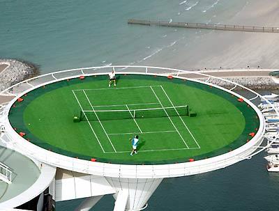 Cancha de tennis del Hotel Burj Al Arab