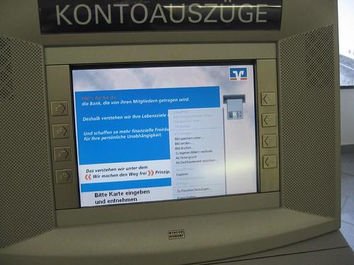 Volksbank Geld-Automat Server Panne