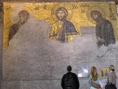 Deisis (phool 4  XC) Tags: turkey icons mosaic türkiye istanbul icon facetoface fresco hagiasophia oldcity constantinople ayasofya بيتربروباخر deisis thegreatchurch phool4xc pilgrimagetojerusalem