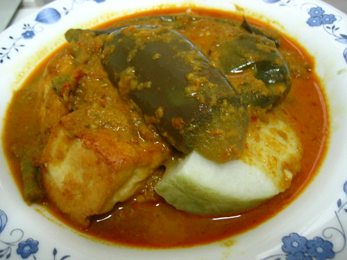 Lontong Rice Dressed With Vegetable Curry