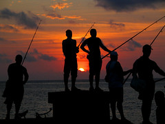 The fishermen (Giuseppe Bognanni) Tags: travel sunset sea people fish fisherman havana cuba novideo interestingness177 i500 bognanni disc0stu abigfave giuseppebognanni