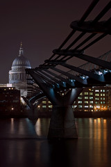 By the Bridge (naughton321) Tags: city uk bridge blue reflection london water thames skyline architecture night buildings reflections river stpauls landmarks millenniumbridge pi blackfriars nightlife christopherwren southwark saintpauls anthonycaro arupfosterandpartners fivestarsgallery fsgtravel