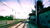 Rails 1 (pierofix) Tags: train colours rails 169 colori treno udine zoomblur rotaie