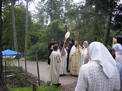 Clergy, Monastics and the Faithful at St. John's Monastery in Point Reyes Station, CA (Olympiada) Tags: hieromonk monasteryofsaintjohnofshanghaiandsanfrancisco brightsaturday