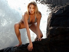 Estella on the Rock (jetrotz) Tags: fashion mexico model rocks surf swimsuit zihuatenejo ✔