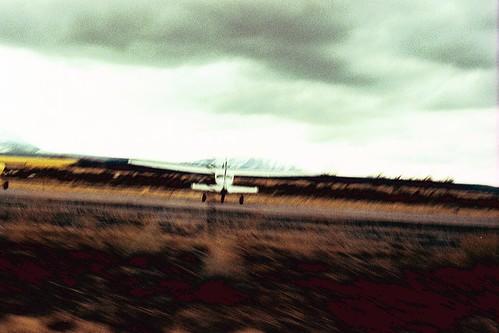 plane in desert