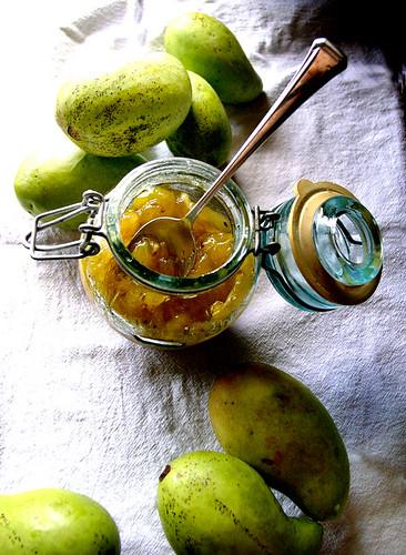 green mango chutney by chotda.