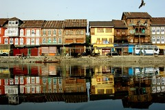 Srinagar Reflections (lecercle) Tags: india colour reflection river dal kashmir srinagar ffk bluelist hazratbal