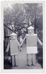 1950's Halloween Robots (Neato Coolville) Tags: halloween robot costume 1950s 50s