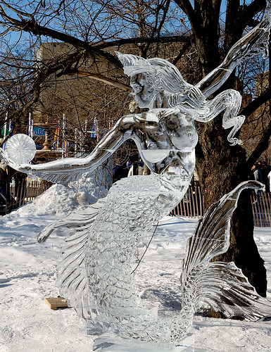 Ice Mermaid at Winterlude