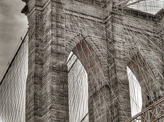 Arch (Darny) Tags: nyc newyorkcity bridge brooklyn manhattan brooklynbridge hdr photomatix webcity nycbridges darny