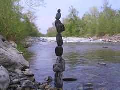 Rockbalance (Heiko Brinkmann) Tags: 15fav sculpture nature water 1025fav 510fav wow river germany landscape deutschland stones flu pebbles balance balancing rockbalancing badenwuerttemberg argen pebblebalancing