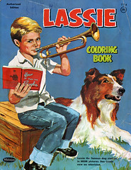In the day... How to Play the Bugle (jamu98765) Tags: lassie coloringbook bugle thriftshop drumandbuglecorps stmaryscrusaders gbugle howtoplaythebugle