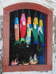 Fishes... (Diego3336) Tags: wood old brazil house fish color colour beach window colors brasil riodejaneiro paraty handicraft boat ship colours rj handmade crafts traditional decoration parati craft style handiwork