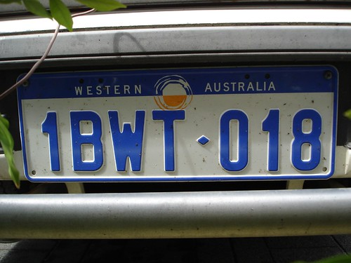 Western Australia licence plate