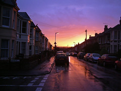October sunrise (Joe Dunckley) Tags: uk england rain sunrise reflections bristol perspective payitforward bishopston northbristol bs7